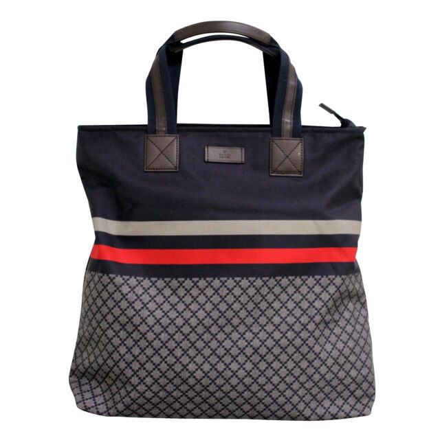 New Authentic Gucci Uni Diamante Tall Tote Travel Bag Blue W Brb Web 268112