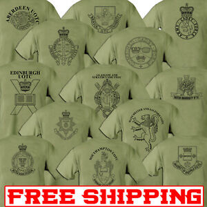 Double-Sided-Printed-Army-GREEN-SAND-T-shirt-UNI-UOTC-COMBINED-CADET-ACF-CCF