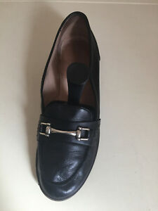 Women-039-s-Shoes-Jones-Black-Leather-Loafers-Shoes-Size-39