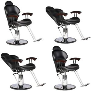 Amazing Details About Barber Salon Multi Purpose Reclining Hydraulic Hair Styling Chair 4 X Mp 30Blk Gmtry Best Dining Table And Chair Ideas Images Gmtryco
