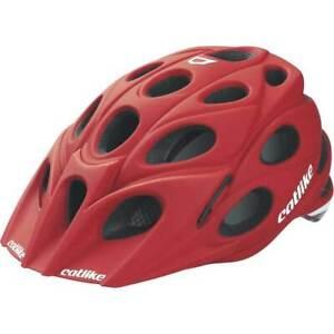 Catlike-Leaf-Bicycle-Helmet-Matte-Red-Lg-w-visor-Ventilated-Lightweight