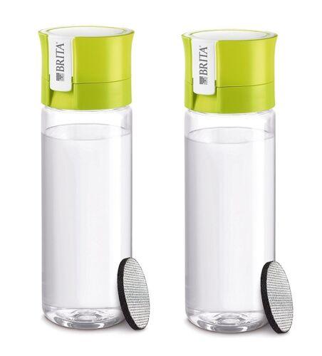 2x Brita Bouteille avec Filtre Fill /& Go Vital Lime//Vert ABQ Filtre