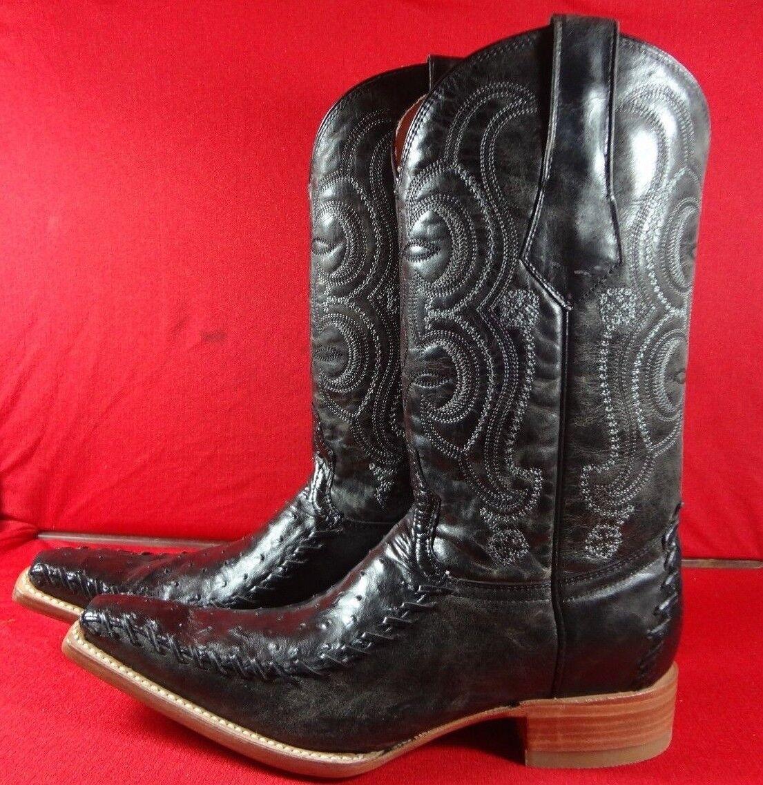 Exotic GENUINE   OSTRICH  Western Cowboy Boots   (C60)  discount