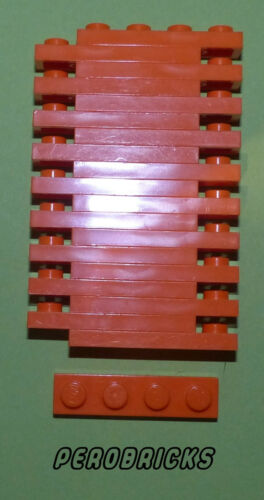 LEGO BASIC Technique Technic 20 Plaques 1x4 #3710 Orange