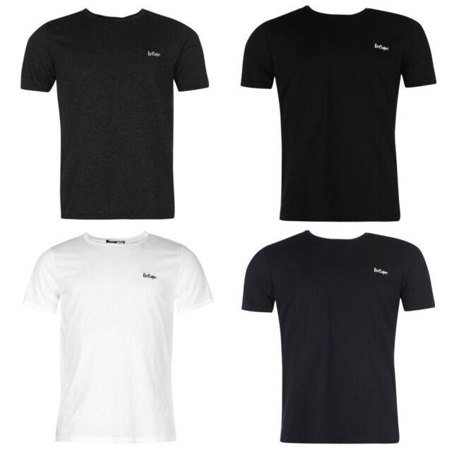 Lee Cooper Mens Basic T shirt Crew Casual Fashion Sports Gym Shirt S M L XL XXL