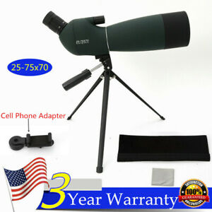 Waterproof-25-75X70-Zoom-Monocular-BAK4-Spotting-Scope-w-Tripod-amp-Phone-Adapter