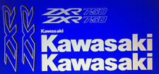 KAWASAKI ZXR750 ZXR750J ZXR750J1 DECALS BLUE MODEL
