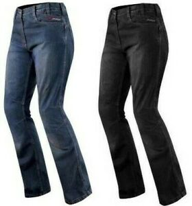 Pantalon Femme Jeans Moto Protections Homolog/ées Aramid Renforts bleu 26