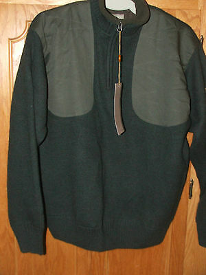 BERETTA Wind Barrier 100%Wool lined 1/4 zip Pullover Sweater/Outerwear/Italy/NWT