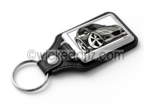 WickedKarz Cartoon Car Mazda RX8 in Gunmetal Grey Stylish Key Ring