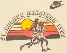 80s Vintage Nike Marathon Race Running Swoosh Pinwheel T Shirt