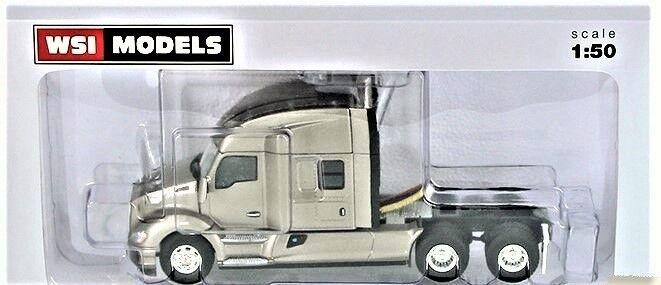 NEW WSI 33-2028 Kenworth T680 3-Axle Tractor w Mid-Top Sleeper Silver 1 50 MIB