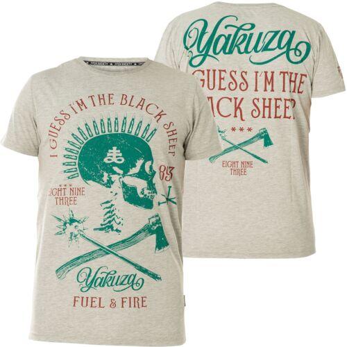 YAKUZA Black Sheep T-Shirt TSB-15029 Light Grey Melange Hellgrau T-Shirts