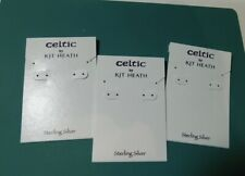 100 Celtic Kit Heath White Sterling Silver Earring Display Hang Cards 3 X 2 B