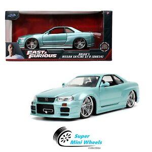 Jada 1:24 - Fast & Furious Brian's Nissan Skyline GT-R BNR34 (Light Blue)