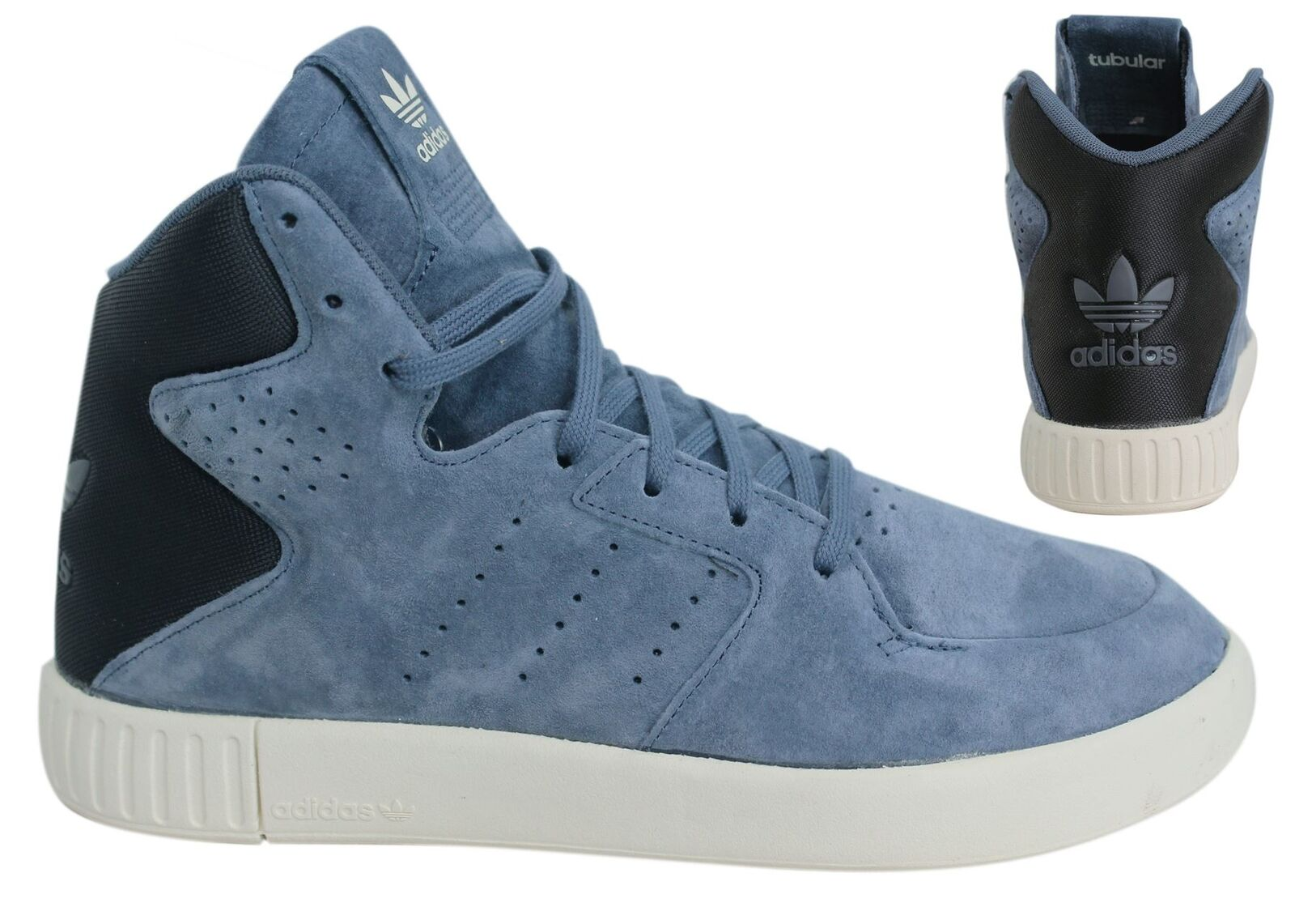 Descuento por tiempo limitado Adidas Originals Invader 2.0 Womens Lace Up Blue Leather Trainers S80554 D134