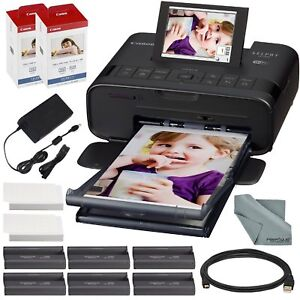 Details about Canon SELPHY CP1300 Compact Photo Printer (Black) with WiFi  and Accessory Bundle