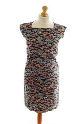 Brillant Vintage Orig 60s Sommerkleid Gerade Schlicht Rockabella Kleid Baumwolle Stretch Ein BrüLlender Handel