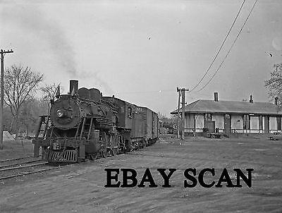 ORIG NEG Boston & Maine 2-6-0 1450 with Lexington Branch freight Original 3 X 4