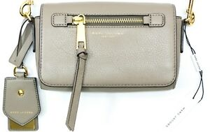 d3ff05dd8995 Image is loading Marc-Jacobs-Small-Recruit-Gold-Tone-Crossbody-Leather-