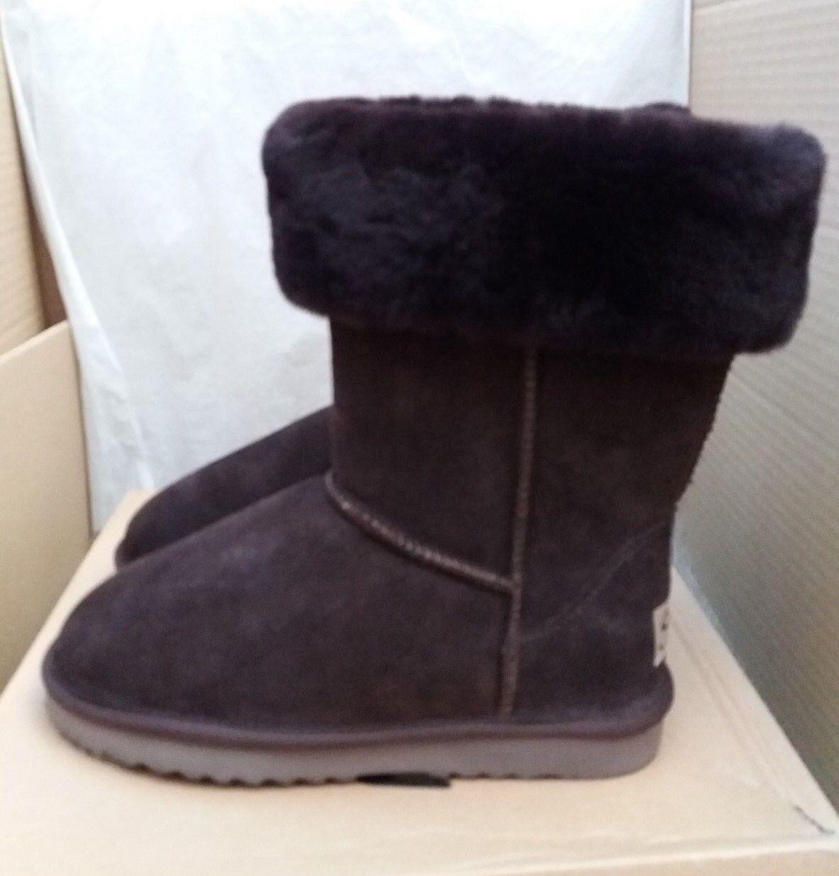 Snow Paw 5826COFL Suede & Sheepskin Winter Collar Stiefel -Coffee -Größe UK 5 EU 38    | Für Ihre Wahl