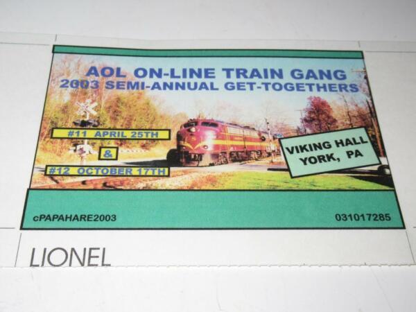 Aol 2003- En Ligne Train Grenadier Get Ensemble Panneau D'affichage Pour 0/027 - Correspondant En Couleur