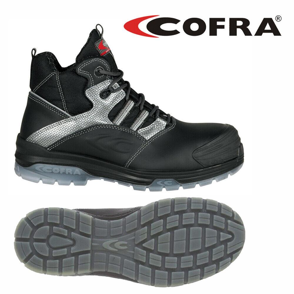 Cofra Modigliani Black S3 CI SRC Safety Boots Non Metallic Toe Cap + Midsole