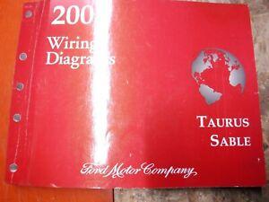 2004 Ford Taurus Mercury Sable Factory Wiring Diagrams Manual Ebay