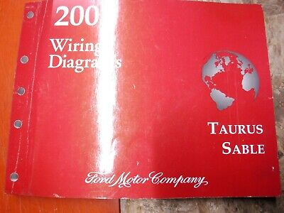 2004 Ford Taurus Mercury Sable Factory Wiring Diagrams Manual Ebay