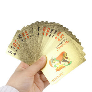 Golden-Playing-Cards-Foil-Poker-Set-High-Quality-Waterproof-Playing-Cards-Hot