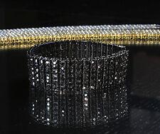 Mens 6 Row Lab Simulated Diamond Hip Hop Tennis Bracelet Gold, Silver, Gun Hema