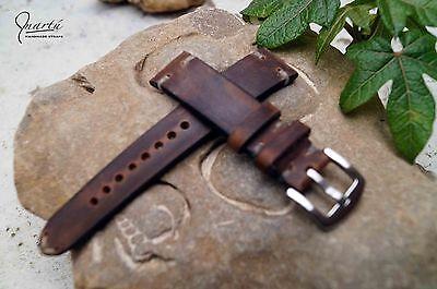 Slim Vintage watch strap Hand Made Genuine leather, welcome custom orders!!!