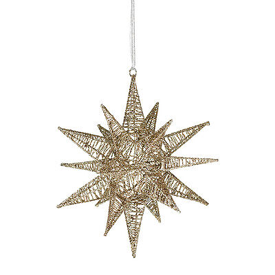 57371-BV  Large Gold Christmas Ornament Hanging Hanger Holidays