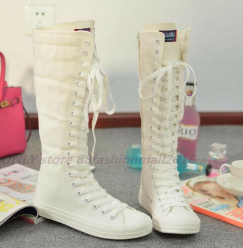 Sneaker Stiefel Chuck Stiefel Boots Segeltuch Damenschuhe KniehoheStiefel Canvas