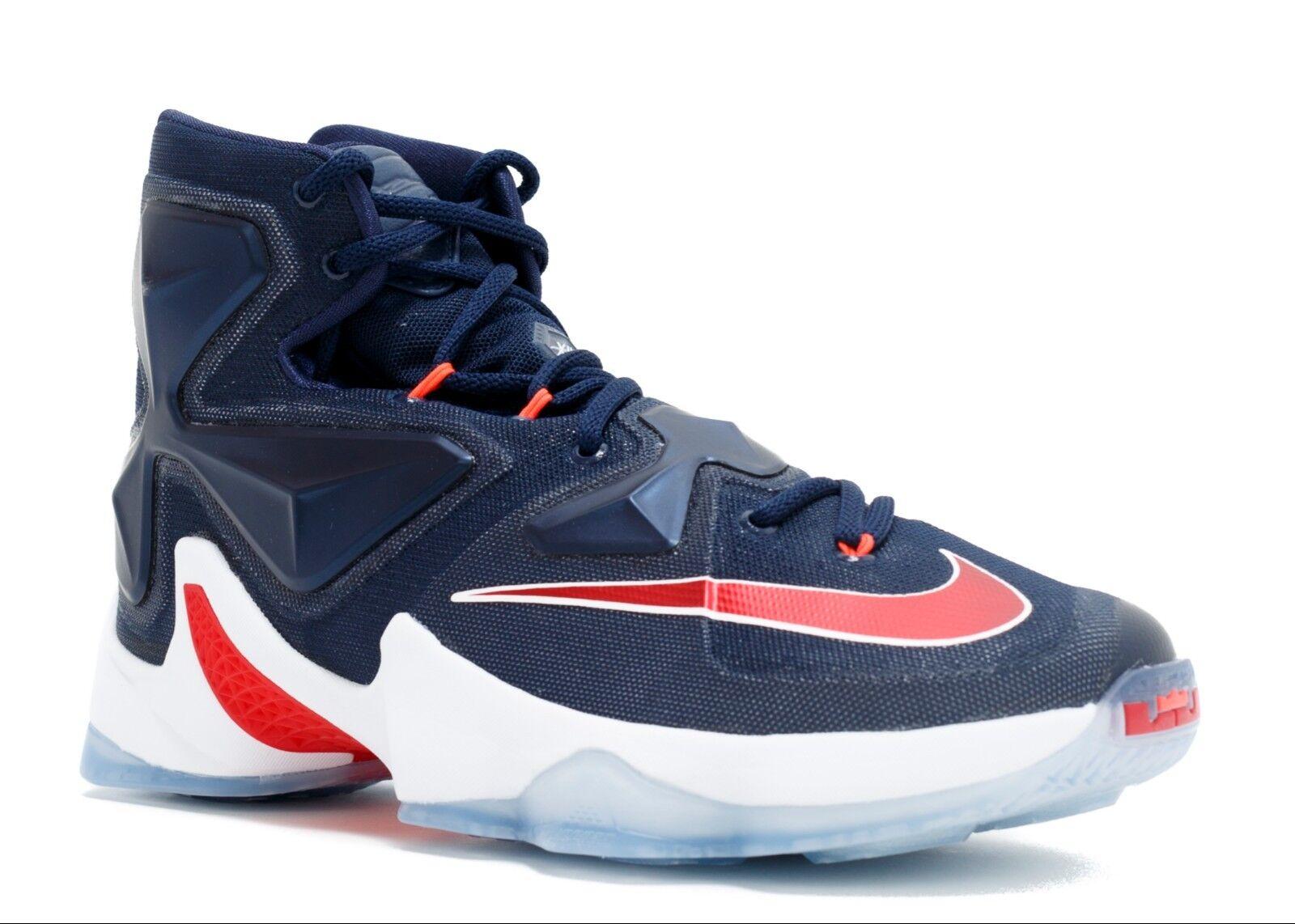 Nike Lebron James 13 XIII Team USA Mens Sz 10 44 Basketball shoes RED WHITE blueE