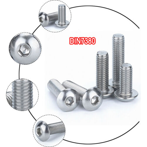 M3 M4 M5 M6 M8 M10 A4 Stainless Allen Bolt Button Head Screws Rust and Corrosion