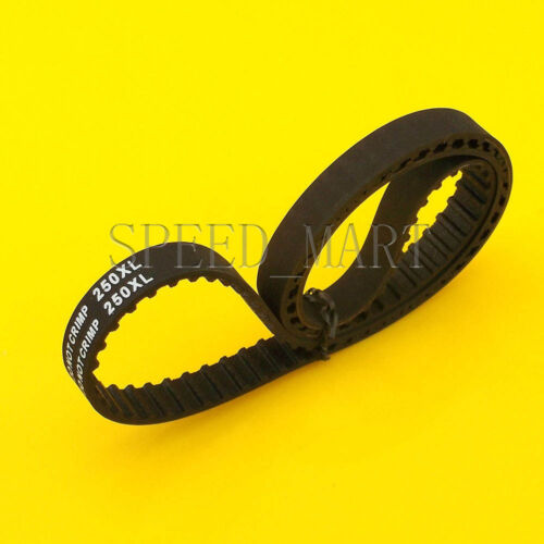 250XL 250XL037 Timing Belt 125Teeth Black Cogged Rubber Geared Belt 10mm Wide