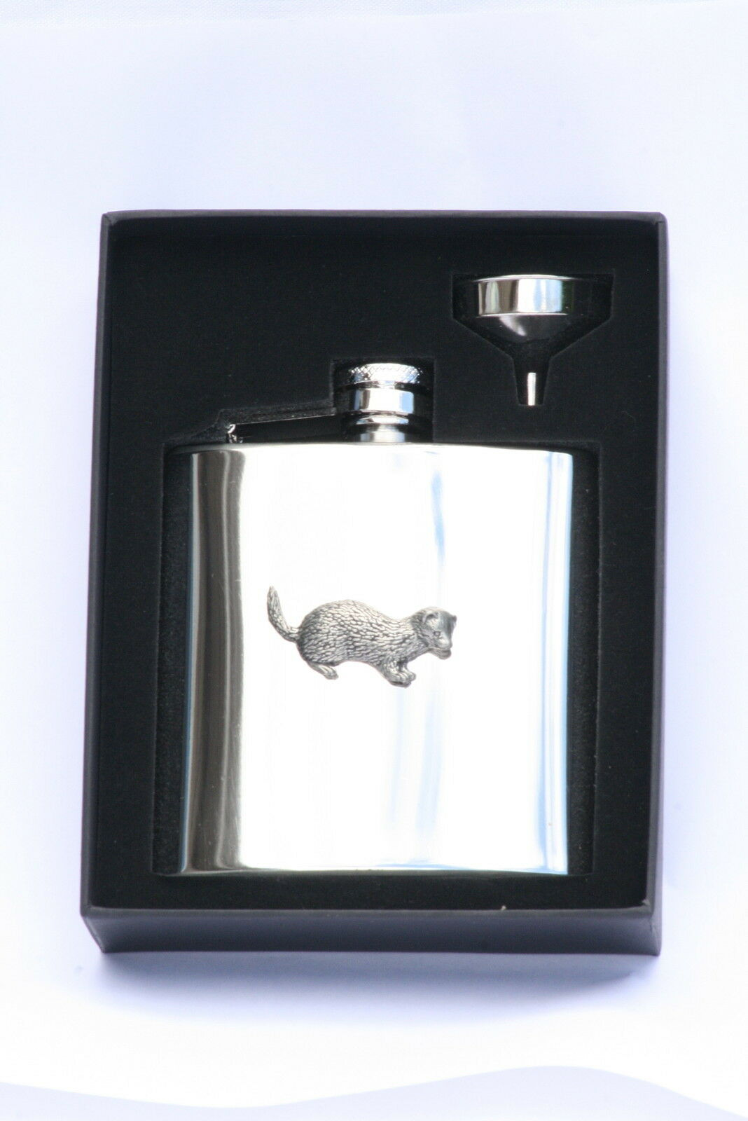 Ferret 6 oz Hip Flask Personalised Ferreting Gift Boxed FREE ENGRAVING