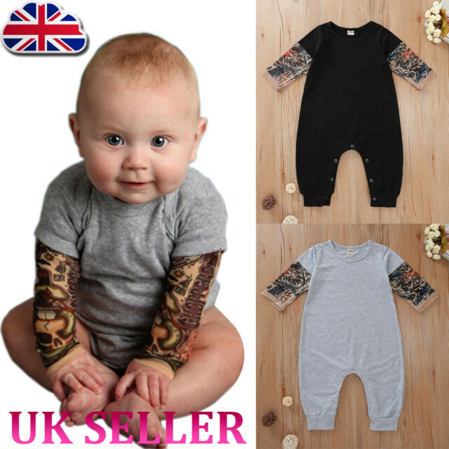0-18M Infant Baby Boy Girl Kid Print Long Sleeve Romper Jumpsuit Playsuit Outfit
