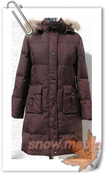 Women's Lady's Winter Long Down Coat (GM5062),Coffee,L
