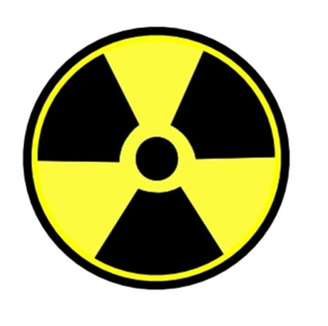 RADIOACTIVE SIGN STICKER HARD HAT STICKER LAPTOP STICKER TOOLBOX STICKER HELMET