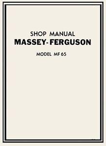 Massey Ferguson Mf 65 Tractor Service Manual Parts Manual On Cd Mf65 Ebay