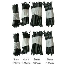 Heat Shrink Tubing Accessories Assortment Black Electrical Durable New