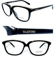 Valentino Brille 2628 Schwarz Gold Cat Eye 60` Cat Style Sonnenbrille Damen Neu