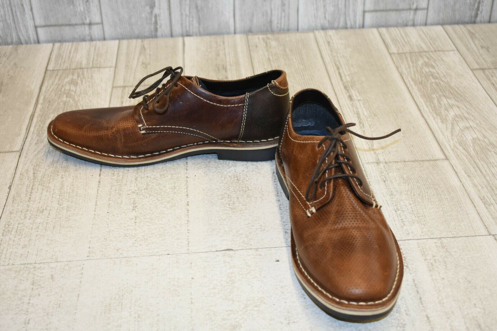 Steve Madden Heywire Perforated Oxford - Men's Size 9, Brown
