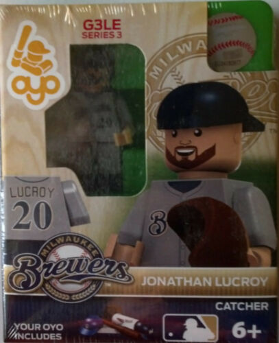 Jonathan Lucroy OYO Milwaukee Brewers MLB Mini Figure NEW G3