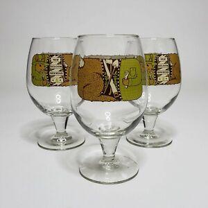 New-Belgium-Brewing-3x-Globe-Shaped-Beer-Glasses-Rabbit