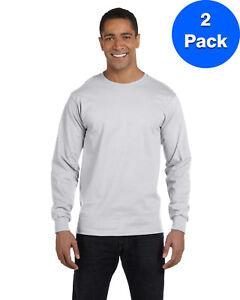 Gildan-Mens-DryBlend-5-6-oz-50-50-Long-Sleeve-T-Shirt-2-Pack-G840-All-Sizes
