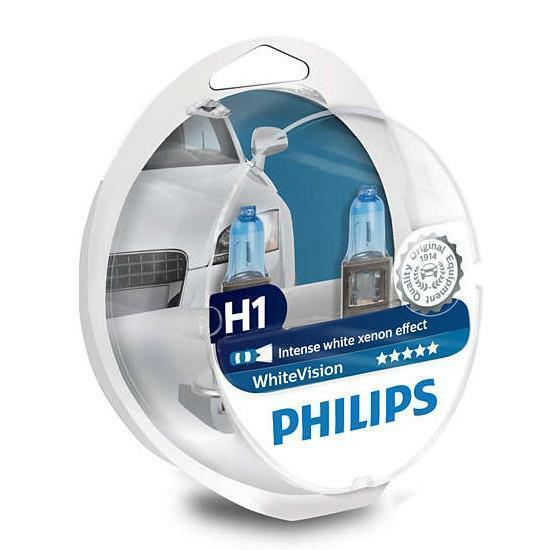 PHILIPS H1 White Vision 12V 55W P14,5s Xenon-Effekt Scheinwerfer Packung von 2+2