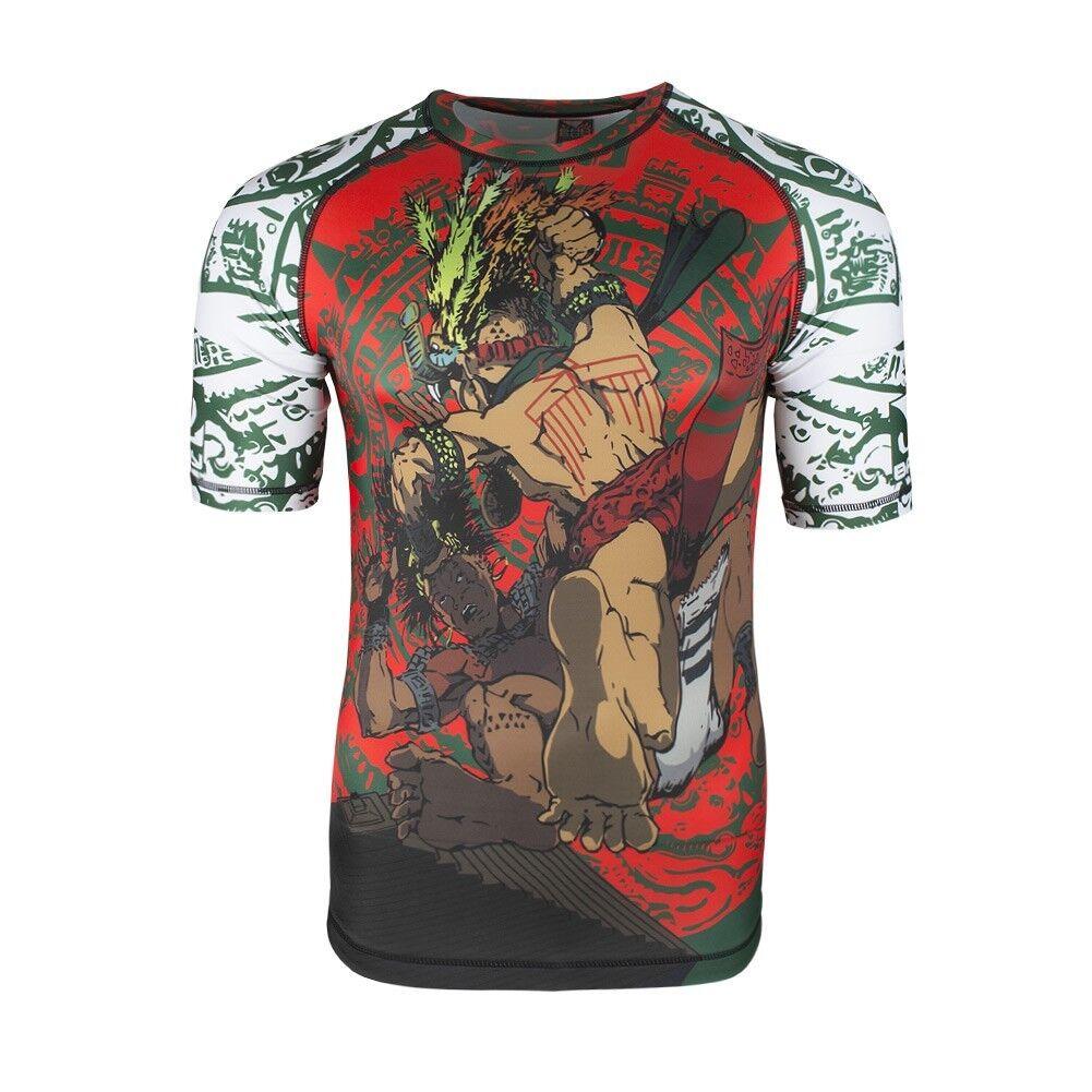 Bad Boy Herren Rashguard Warrior Society Grün  54,98 54,98 54,98 Kompression T-Shirt MMA 1fe106
